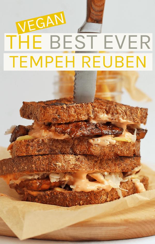 Vegan Tempeh Reuben Vegan Sandwich Vegan Dishes Vegan Sandwich Recipes