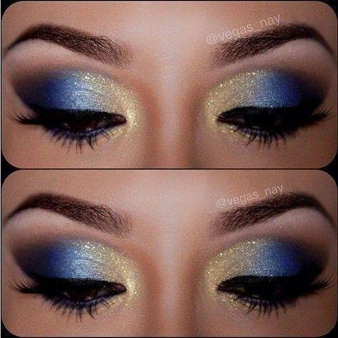 Wonder Woman Eye Makeup Idea Gold Eye Makeup Cheer Makeup Blue Eye Makeup