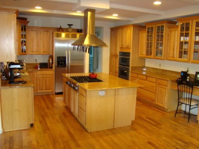 Golden oak flooring in kitchens trying to decide w