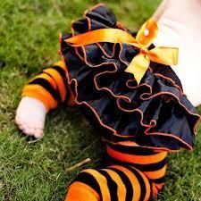 Halloween Black and orange bloomers and legwarmers for Infant - toddler by sydneysbowtique for $20.99