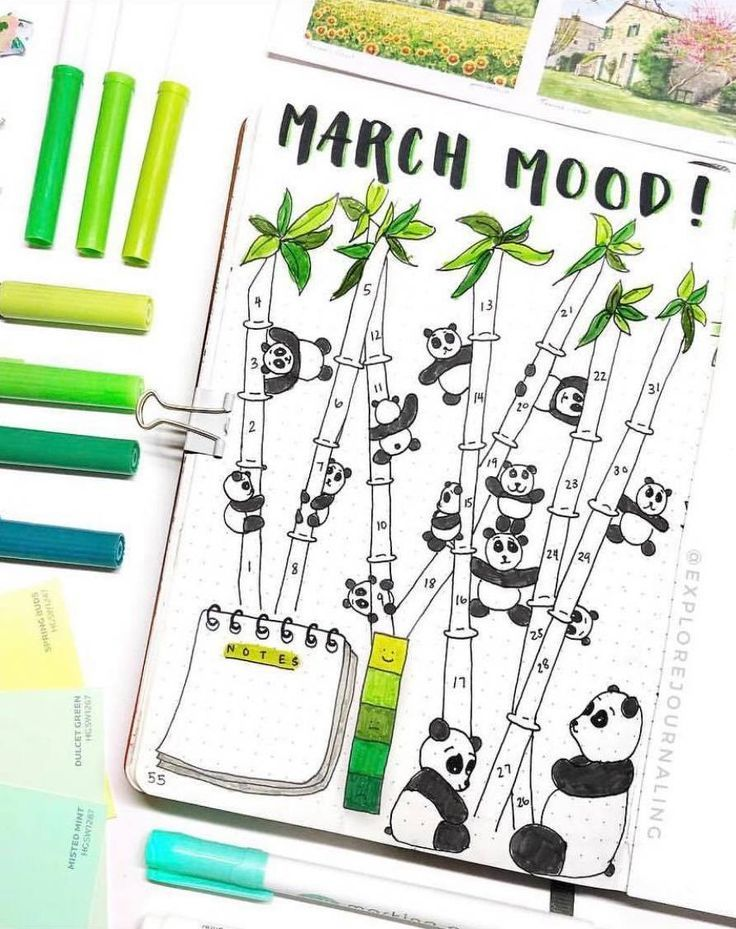 Creative mood tracker by ig@explorejournaling.