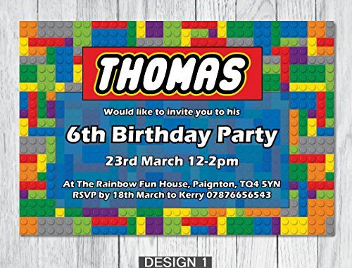 10x personalised party invites with envelopes k i design http www