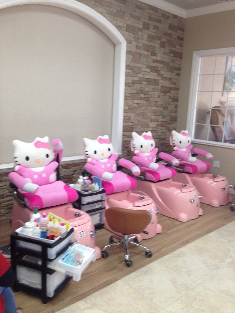 hello kitty spa pedicure chair reupholster a seat top ten nail salon and - tracy, ca, united states. cute chairs for kids pedicures!!! | dream ...