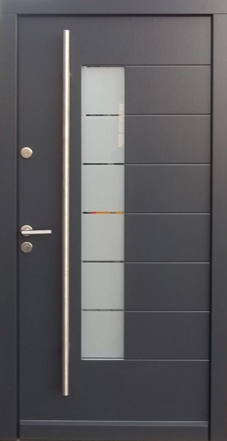 Model 005 Modern Grey Finish Wood Exterior Door Modern Home