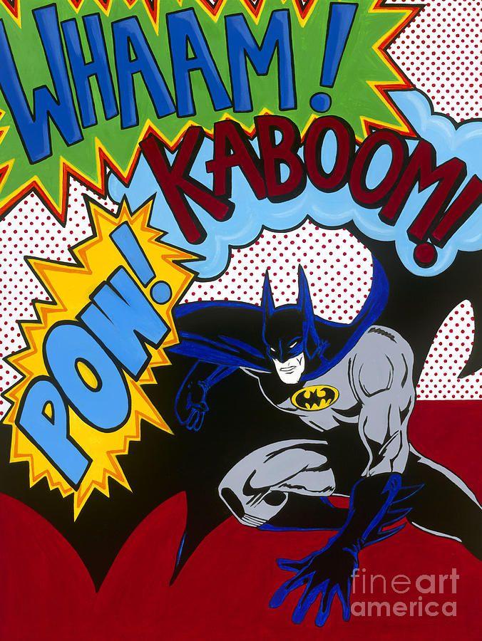 Whaam Kaboom Pow Batman Painting Whaam Kaboom Pow Batman Fine