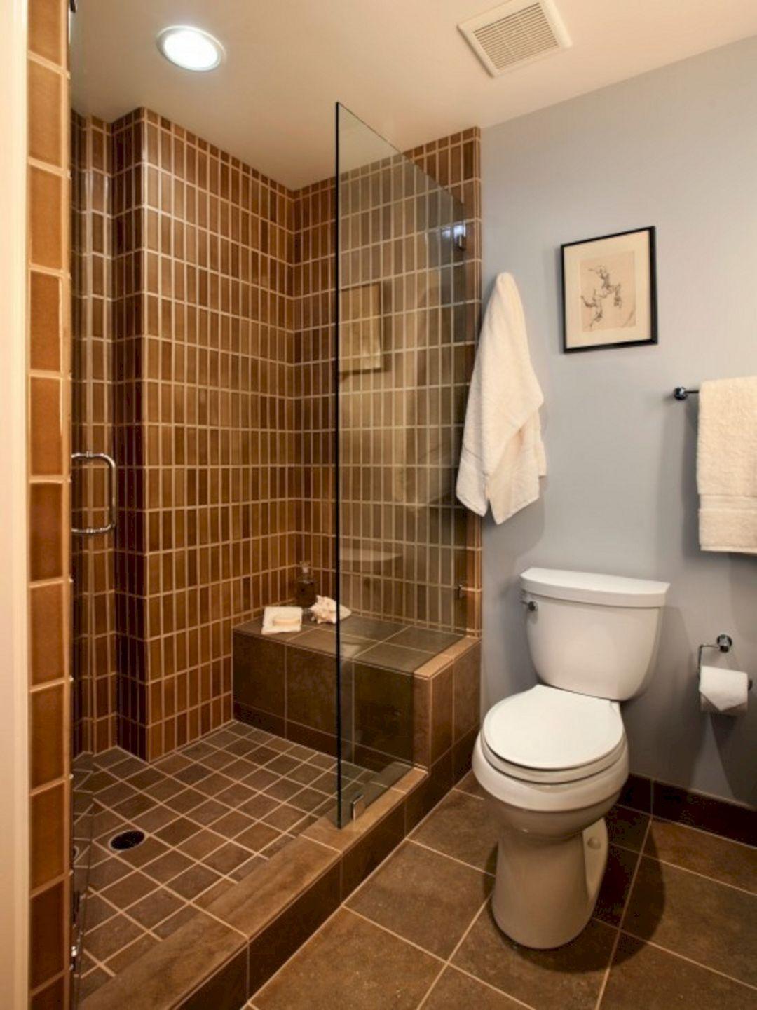 24 Top Doorless Shower Design For Small Bathroom Ideas Bathroom Design Small Small Bathroom Doorless Shower Design