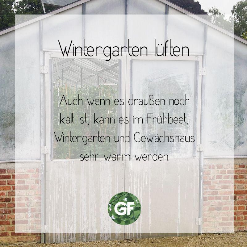Wintergarten Luften Bei Sonnigen Tagen Heisst Es Also Luften Winter