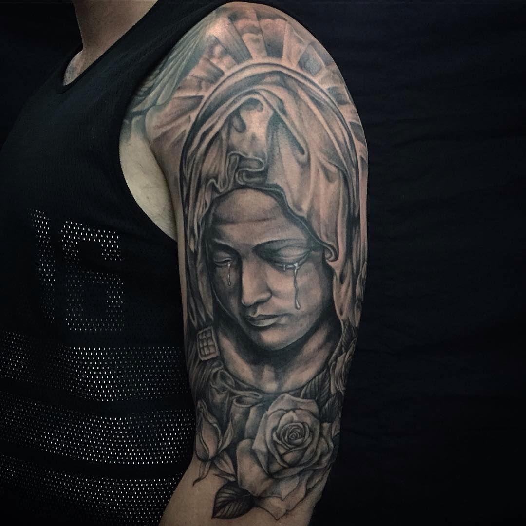 Tattoo Designs Mama Mary: 35 Spiritual Virgin Mary Tattoo Designs & Meanings