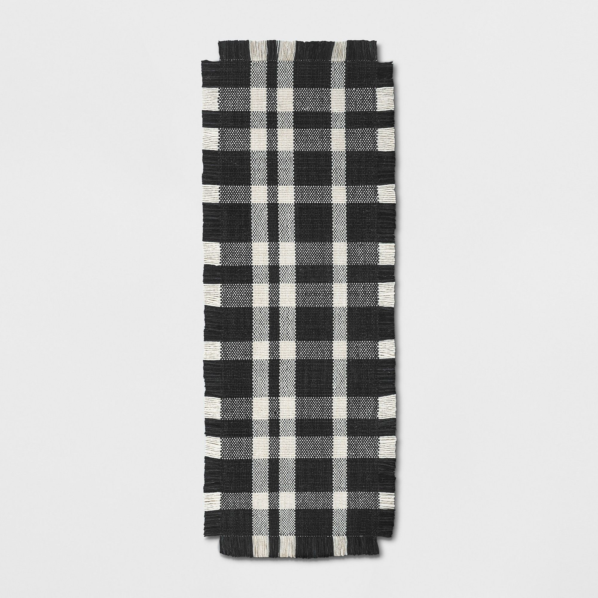 2 4 X7 Plaid Woven Accent Runner Rug Navy Threshold Plaid Rug Grey Area Rug Rugs