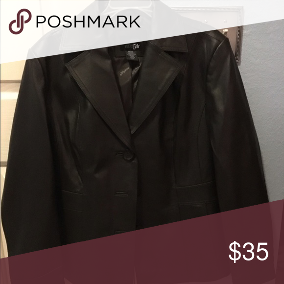 Leather jacket Dark brown gently used leather jacket Jackets & Coats