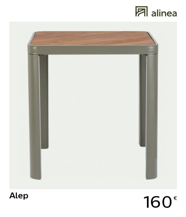 alinea #decoration alep table de jardin en aluminium et ...