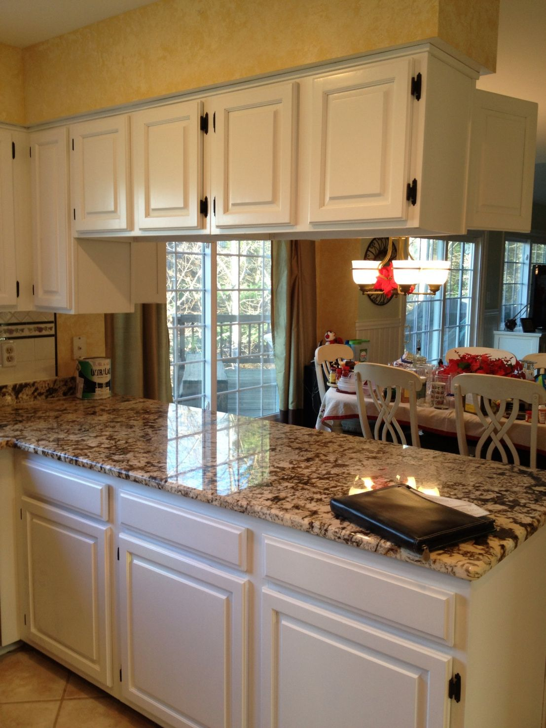 2018 Off White Cabinets with Granite Countertops - Kitchen ...