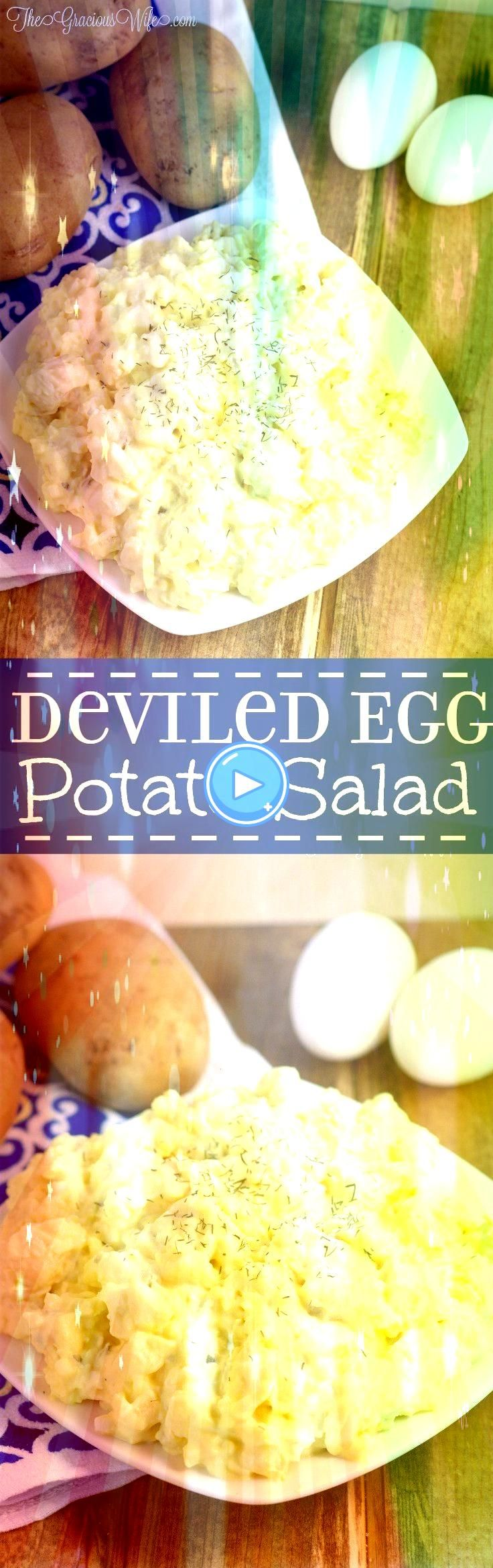 Egg Potato Salad Recipe  Easy potato salad side dish recipe inspired by Deviled Egg Potato Salad Recipe  Easy potato salad side dish recipe inspired by Old School Chicken...
