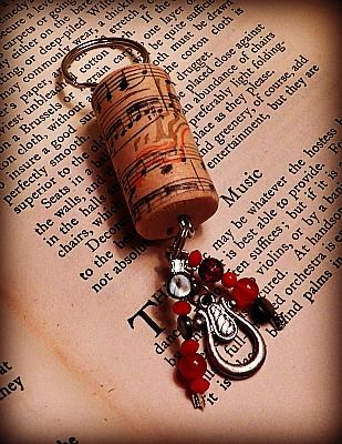 Great idea. Pick a cork from a special bottle of wine and make a key chain to remember it by!