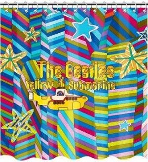 The Beatles Yellow Submarine Shower Curtain 27 99 We All