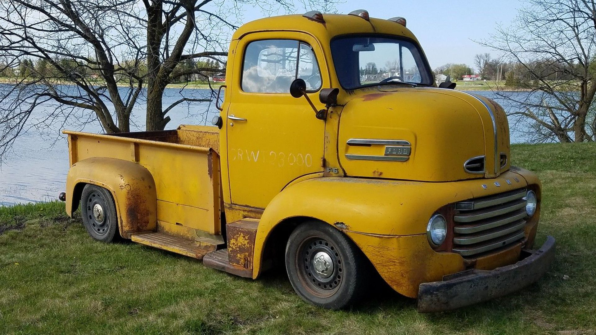 This 1948 Ford F 6 Coe Truck Has Cop Car Underpinnings Cars Cast S F6 On Newer Crown Victoria Frame