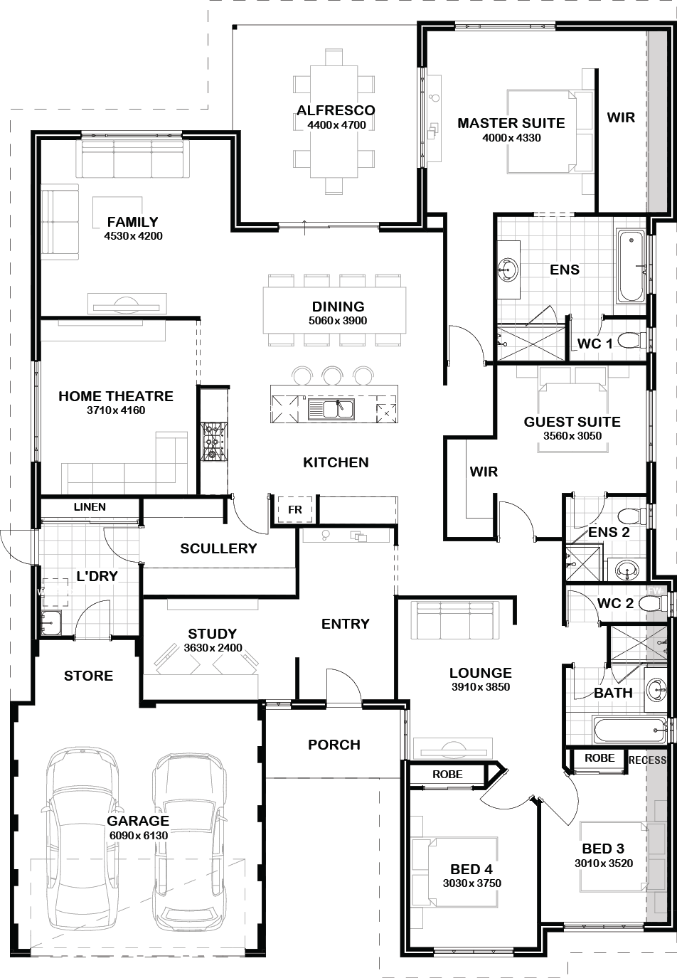 Nice Idea For The Master Closet Behind The Bed Nice Idea For The Master Closet Behind The Bed Nice Idea Home Design Floor Plans New House Plans Floor Plans