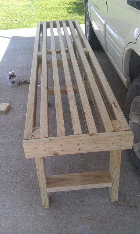 Easy 10 2x4 bench things i39ve done pinterest 2x4 for Homemade 2x4 furniture