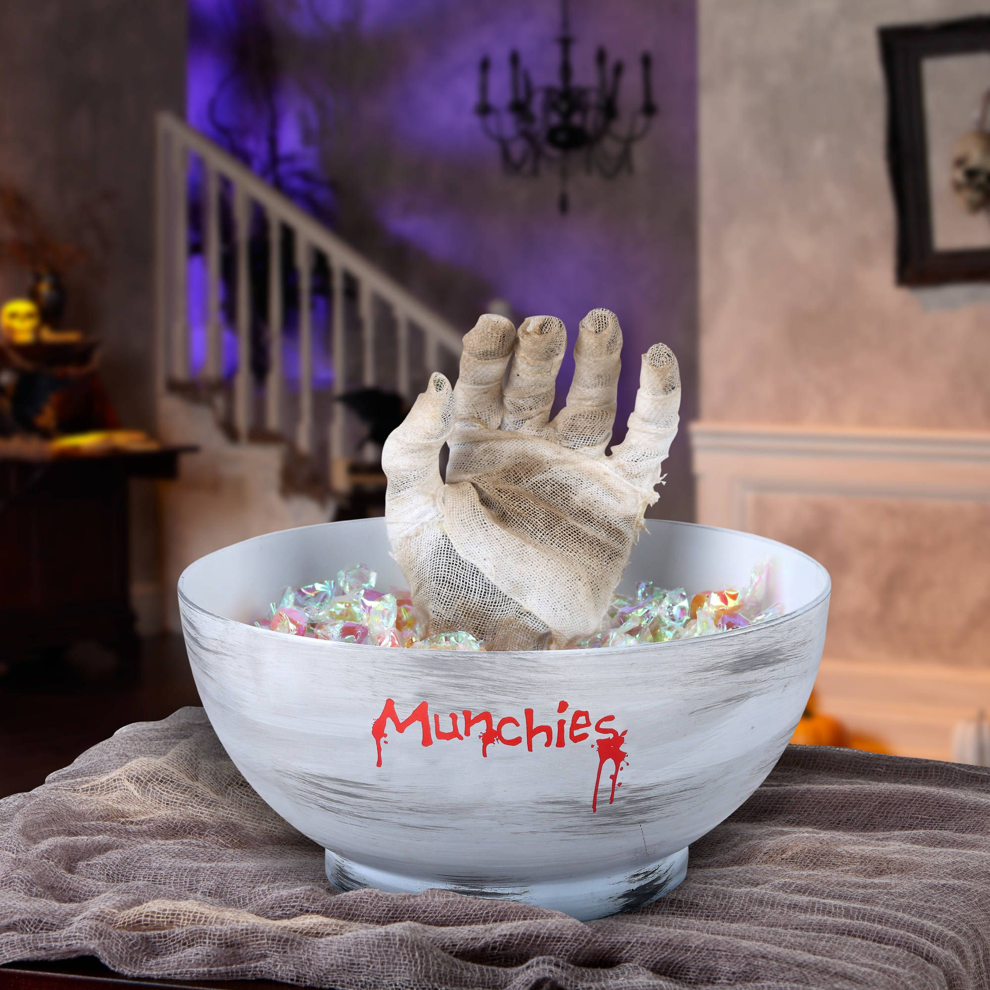 Frighten your guests with this creepy decoration. The