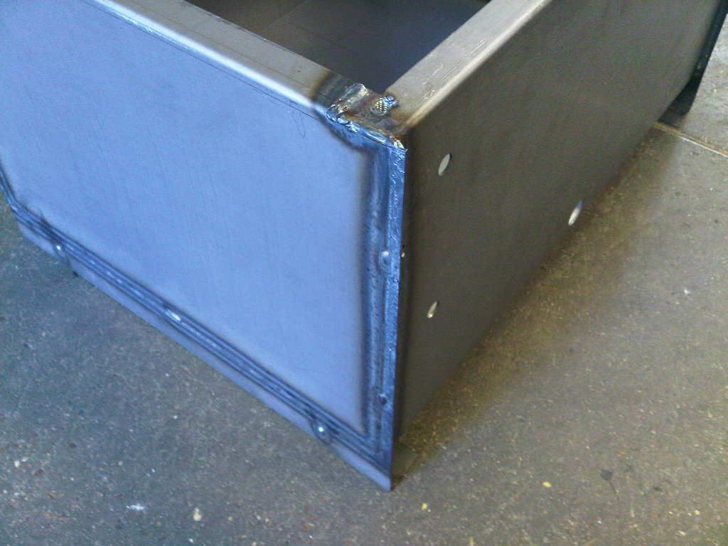 Mild steel oil tank with mig welded joints sheet metal