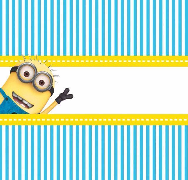 Convite Minions Amirul Bdea Pinterest Candy Party And Minion