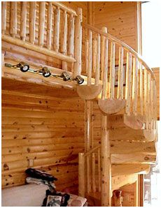 Best Another Example Of A Beautiful Simple Log Spiral Staircase 640 x 480
