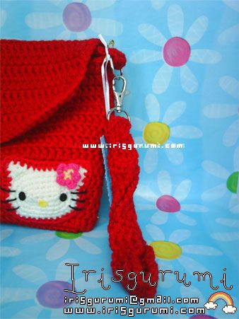 Hello Kitty Crochet hand bag   Crochet: bolsos, monederos y estuches ...