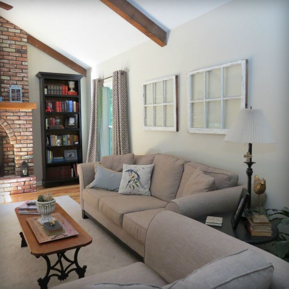 Window pane ideas  old window pane makeover into wall art  window living rooms and walls