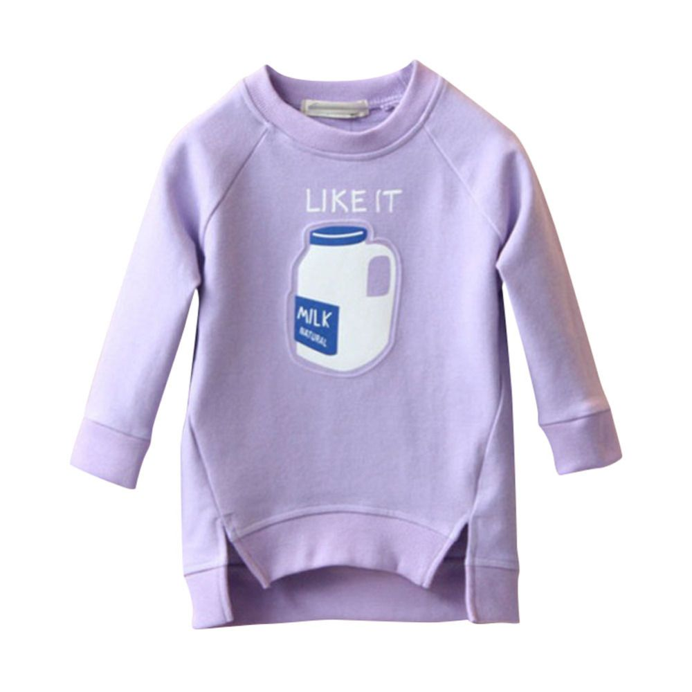 7fc8ef7bf 2017 Hot Kids Toddler Bottle Printed Warm Tops Sweatshirt Girl ...