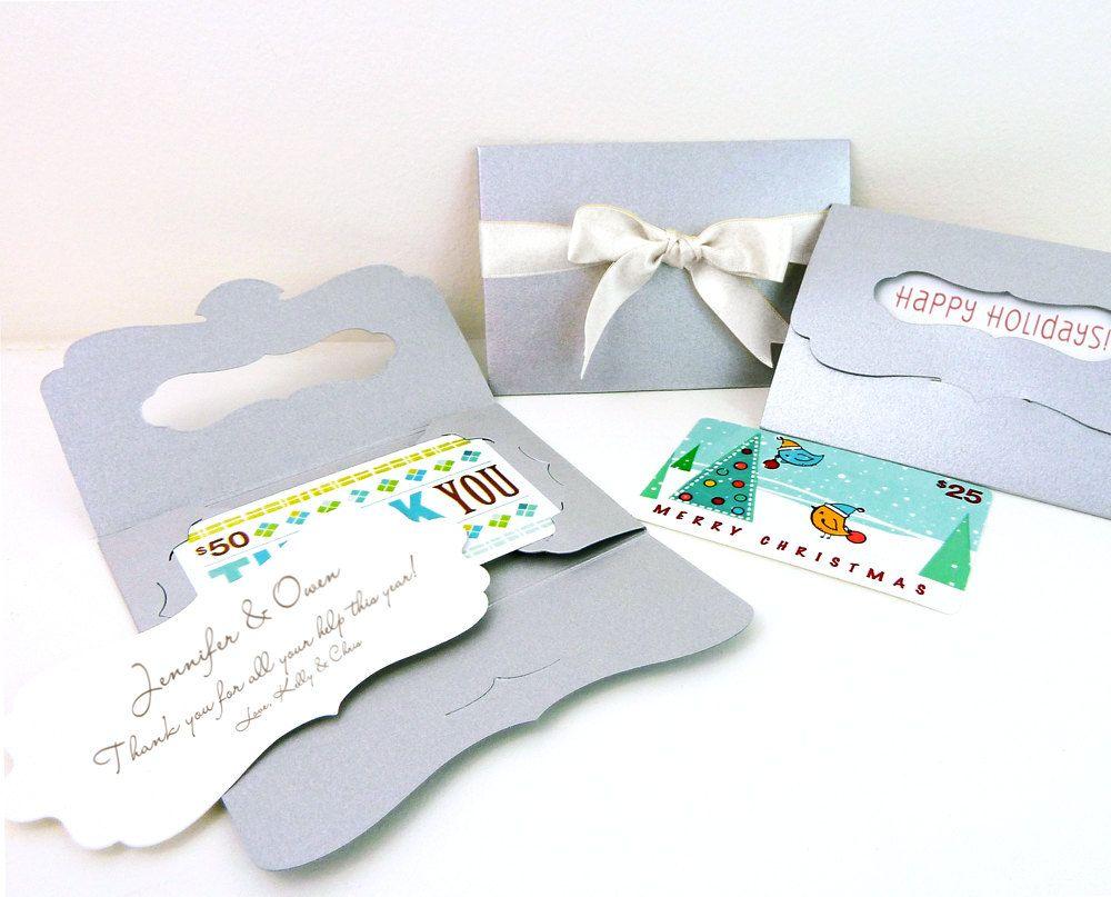 8 Gift Card Holders w/ bracket card insert, 4.5\