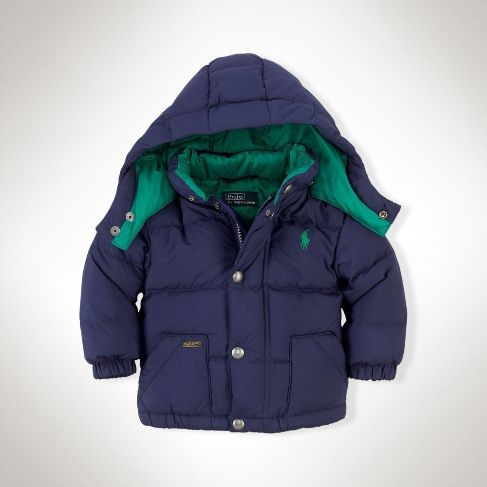 f489c6cfc RALPH LAUREN Baby Boy s Varsity Hooded Down Jacket