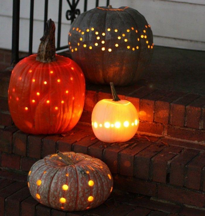 Halloween Kürbis - 40 ausgefallene Ideen, wie Sie Kürbisse zu Halloween in Szene setzen #sculpturesdecitrouille