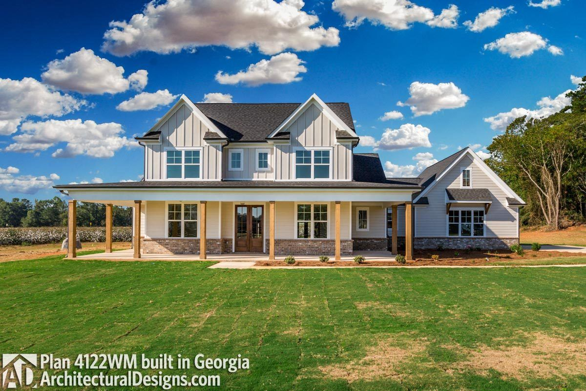 Plan 4122wm Country Home Plan With Marvelous Porches In 2021 Affordable House Plans Country House Plans Simple Farmhouse Plans