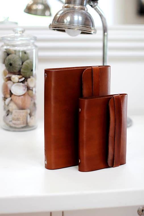 PURE / Pánsky kožený zápisník / karisblok BROWN A5