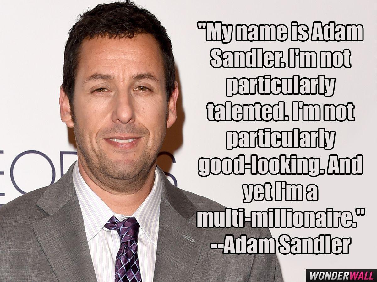 Celebrity beach cruising 2016 Adam Sandler quote