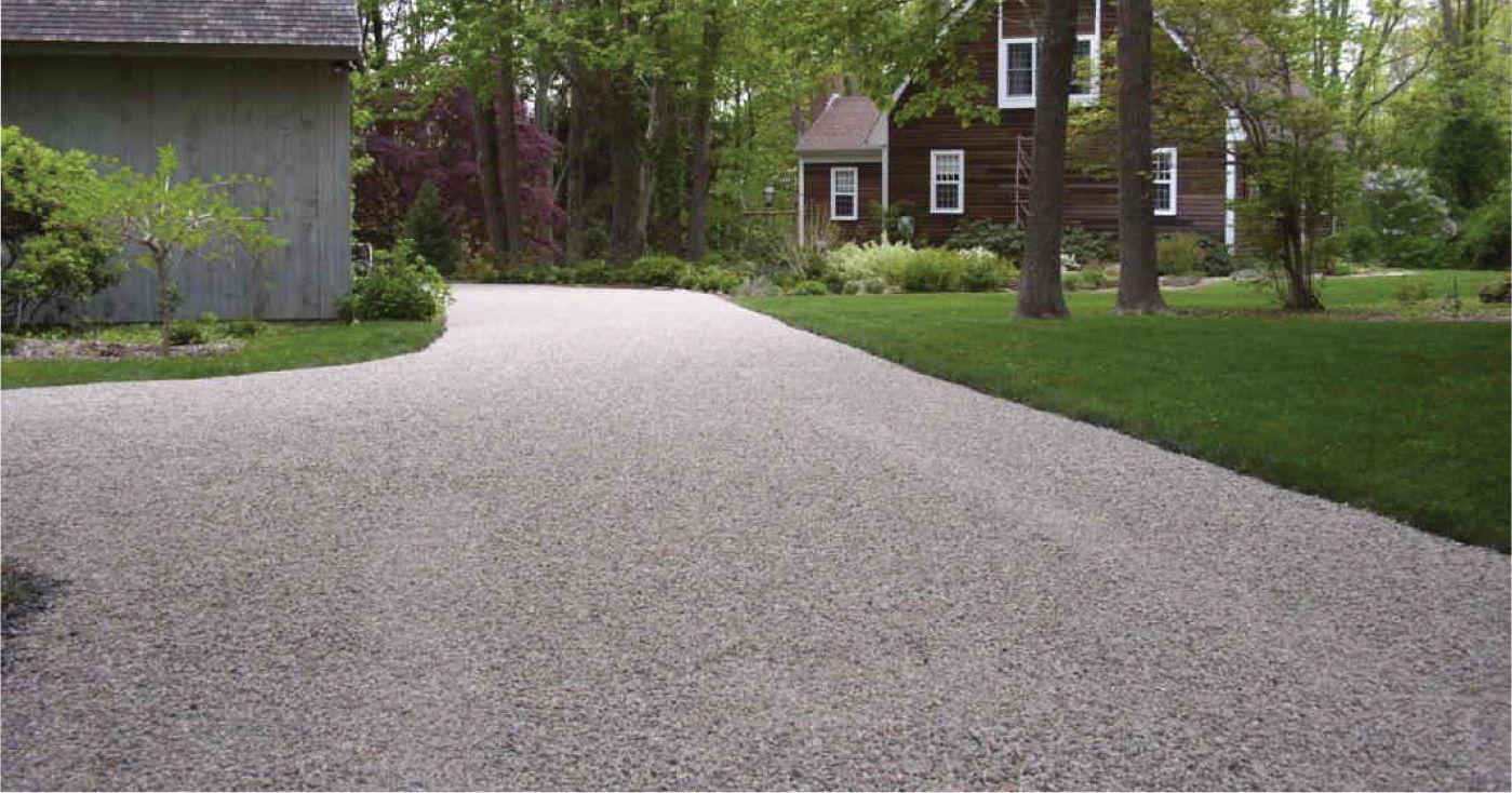 Chip Seal Driveway Gray Gravel Driveway Stone