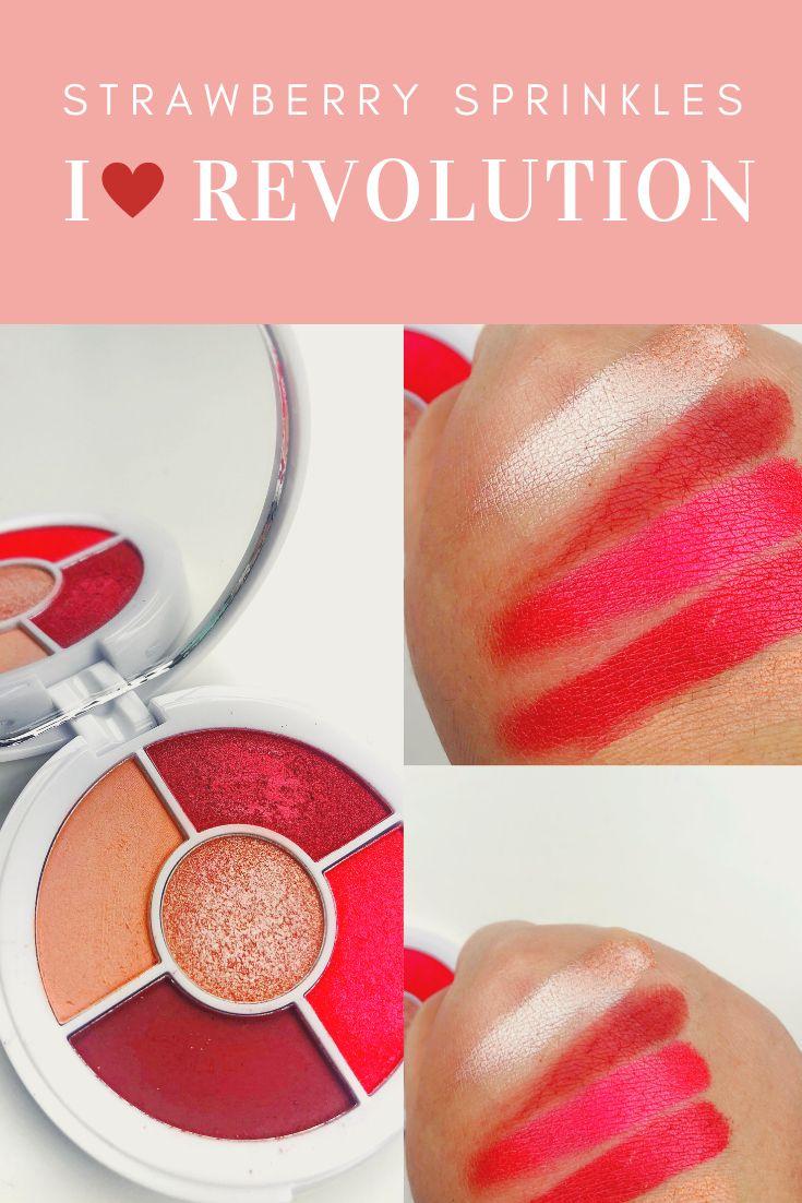 I heart Revolution strawberry sprinkles eyeshadow palette
