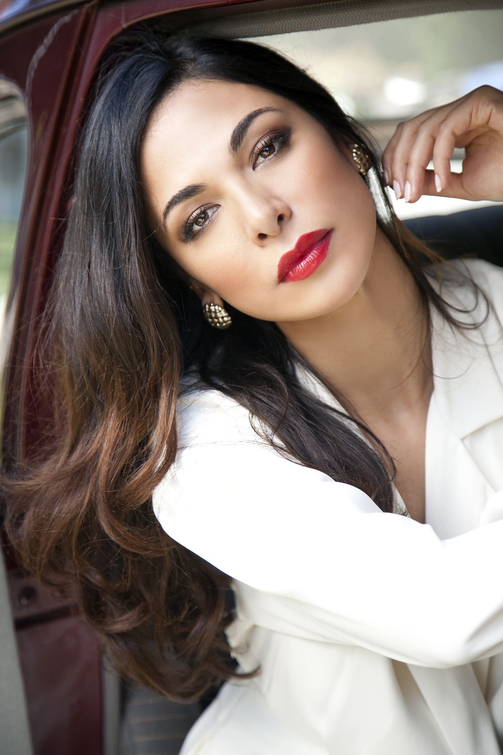 Moran Atias by Ian Fisher | Perfect red lips, Moran atias ...