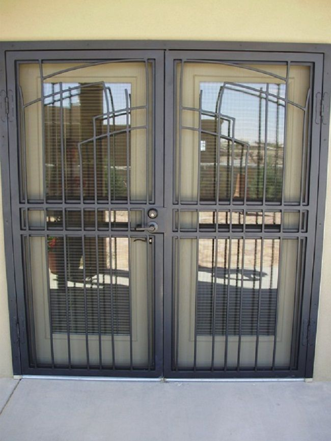 French doors with security door door designs plans for Security doors for french doors