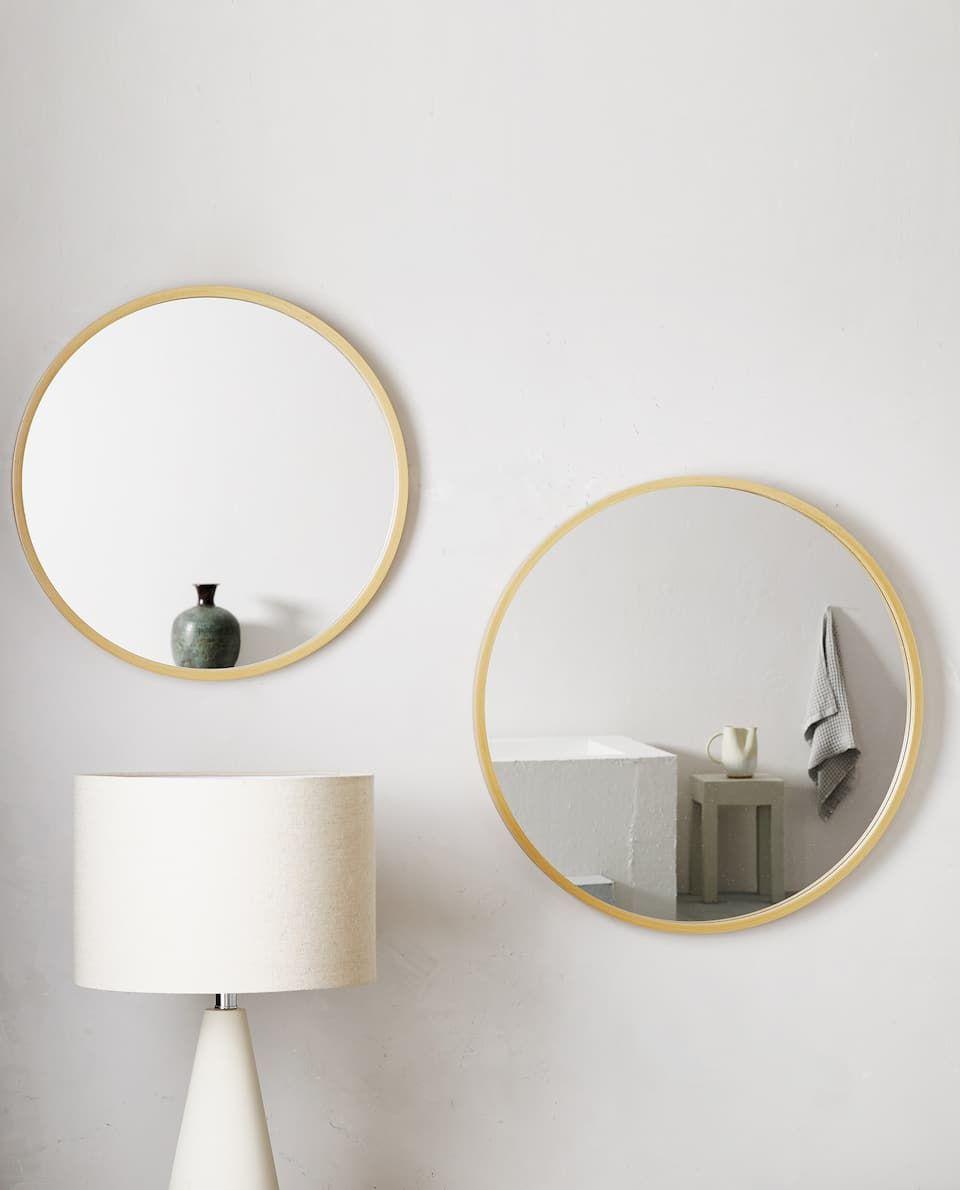 Bild 2 Des Produktes Grosser Runder Spiegel Aus Holz
