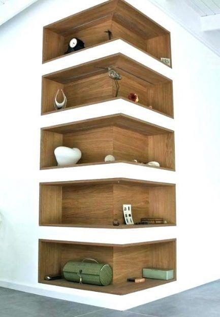 Wonderful Bookcases Cherry Wood Corner Bookcase X Medium Veneer 2 Shelf Enjoy Leisure Towards Your Home Famous In 2020 Corner Shelf Design Home Diy Diy Corner Shelf