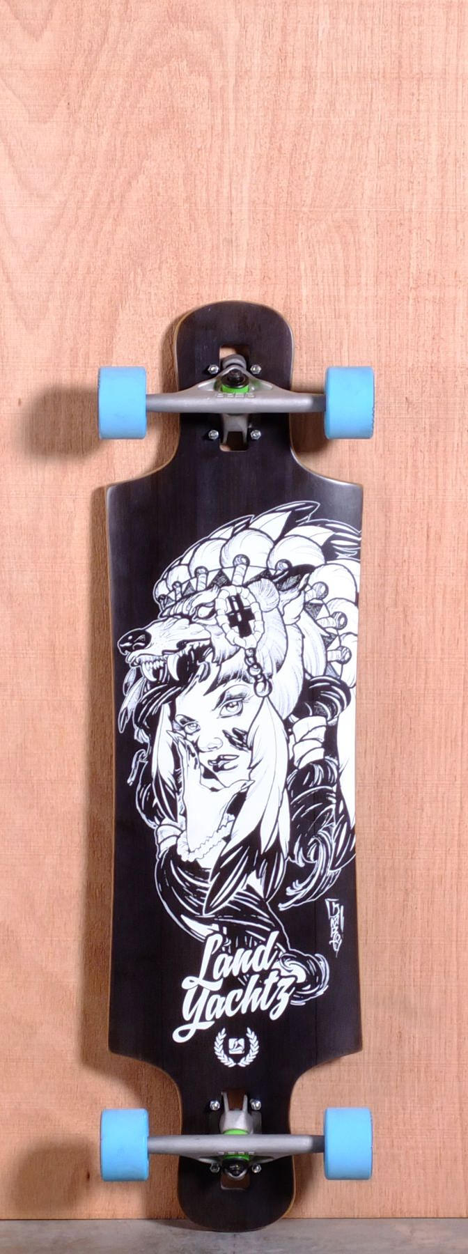 4a227b45884 The Landyachtz Drop Hammer Longboard Deck is designed for Carving ...