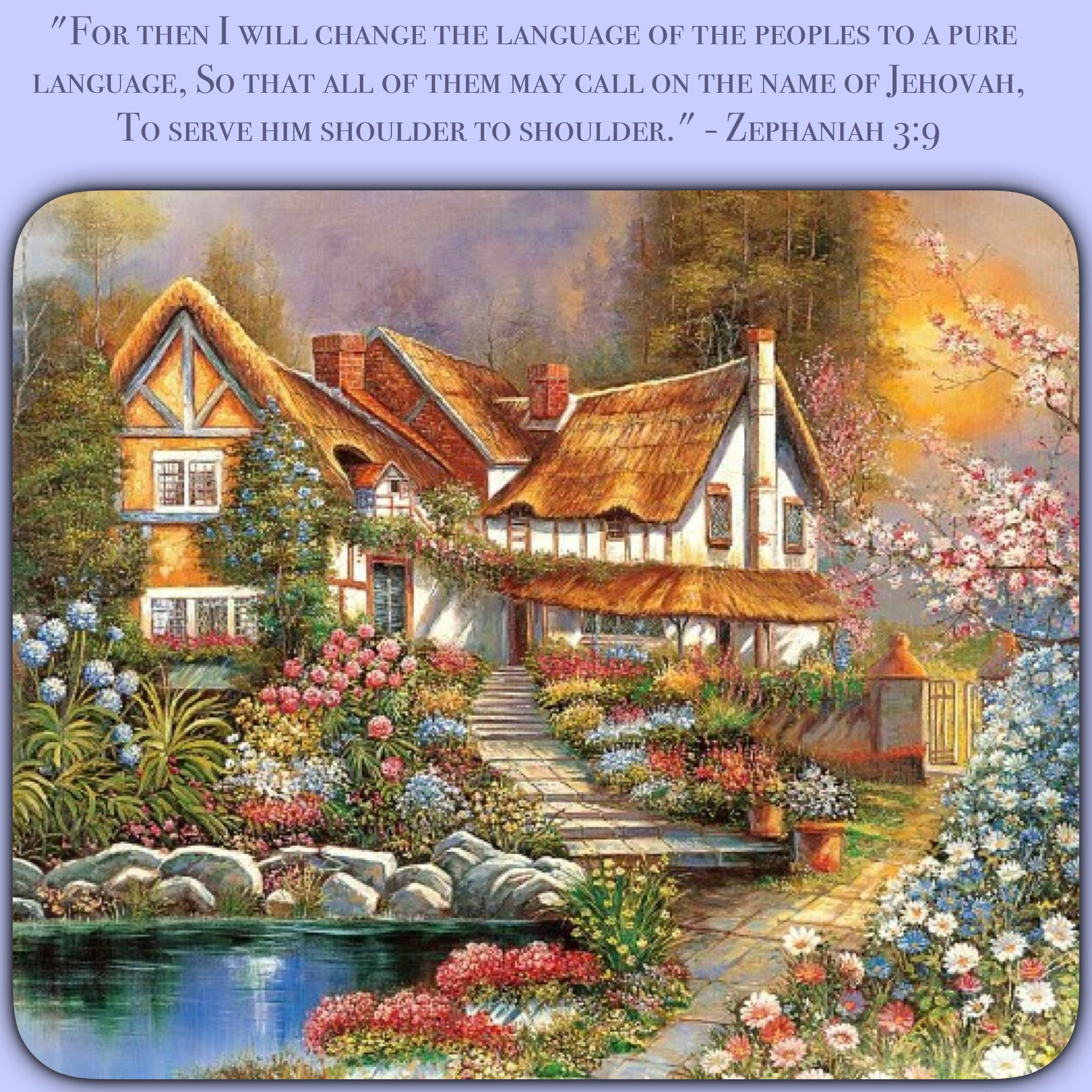 """The """"pure language"""" is the truth of God found in his Word, the Bible. It includes all Bible teachings. We speak it by believing the truth, by correctly teaching it to others, and by living in harmony with God's will.   ♥•.¸¸.•♥ JW.org also has the bible & bible study aids in 300+ (sign included) languages. These study aids are available to read, watch, listen &/or download."""
