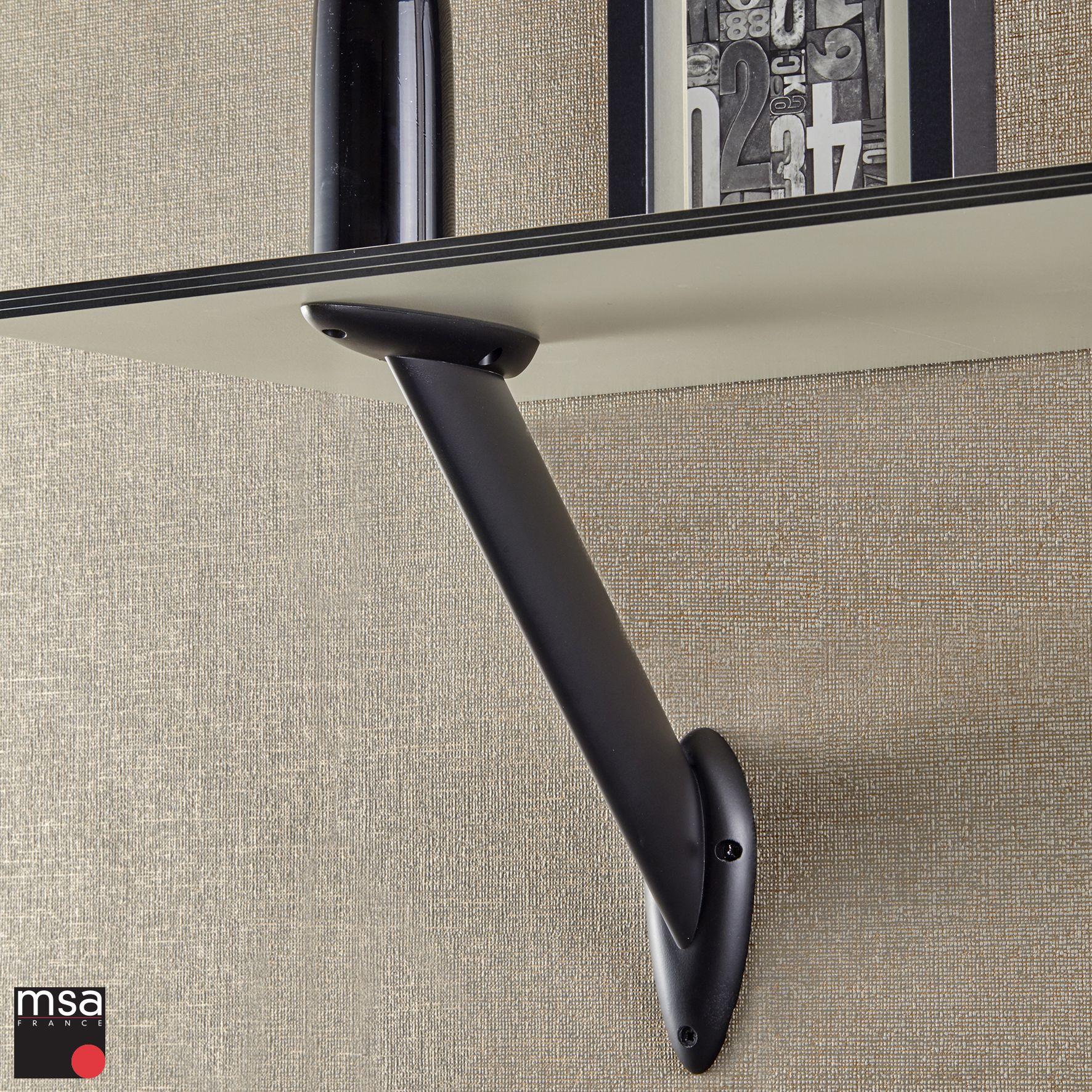 Equerre Murale Vela Avec Profil En Aluminium Ovale Specialement Concu Pour Faciliter Le Nettoyage Equerre Murale Support Mural