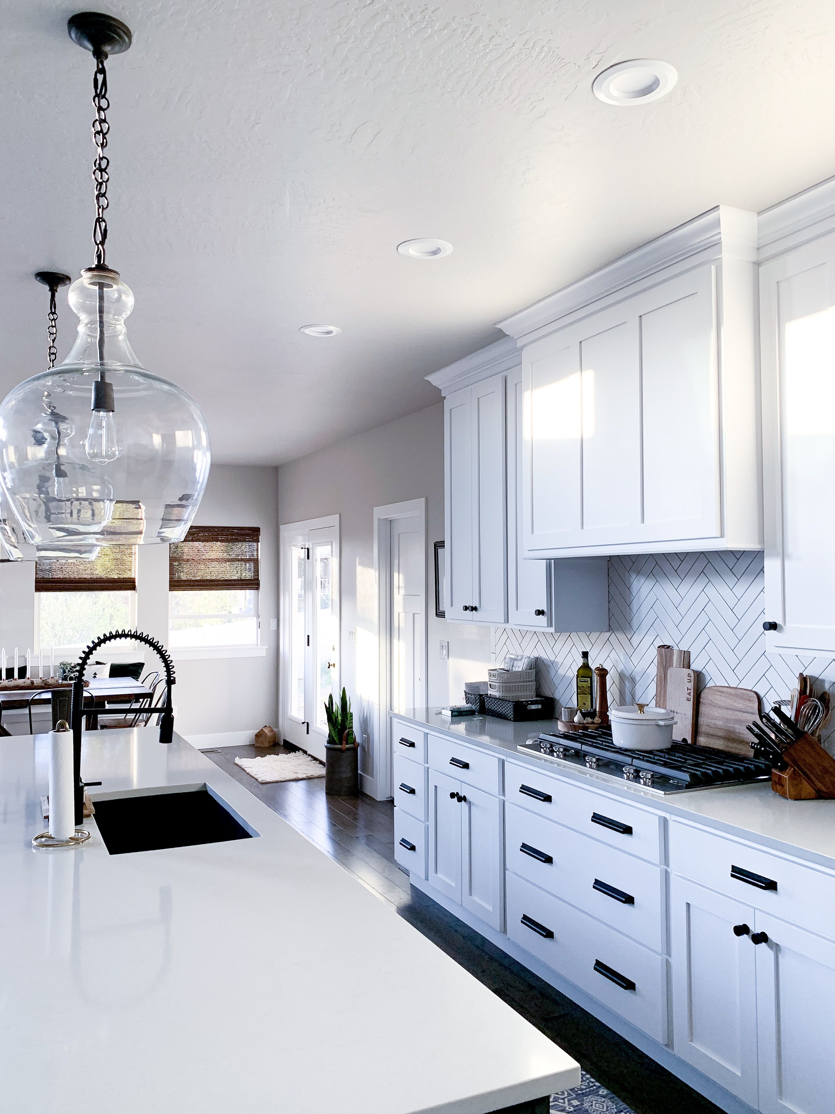 We had to have these Pottery Barn Oversize Flynn Pendant ...
