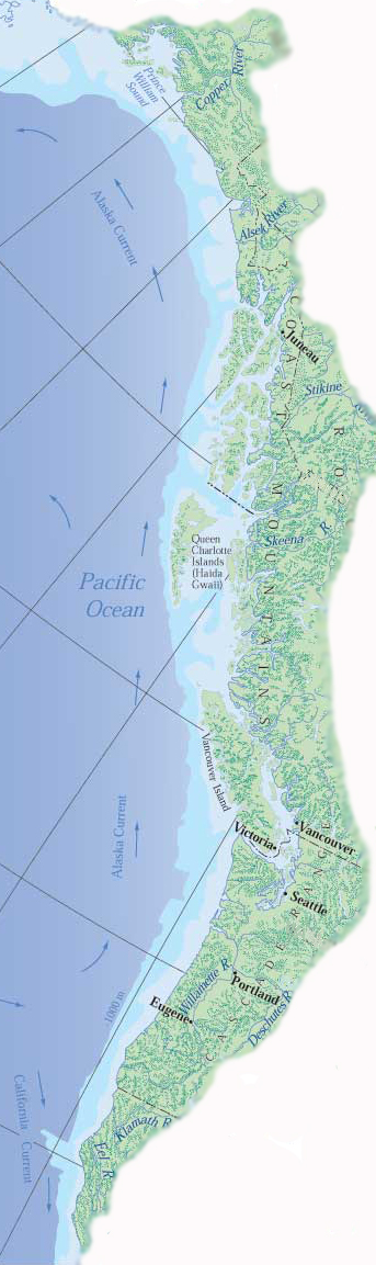 The Cascadia Bioregion Is The Lush Forested Region Extending From - Map of us bioregions ancient food traditions