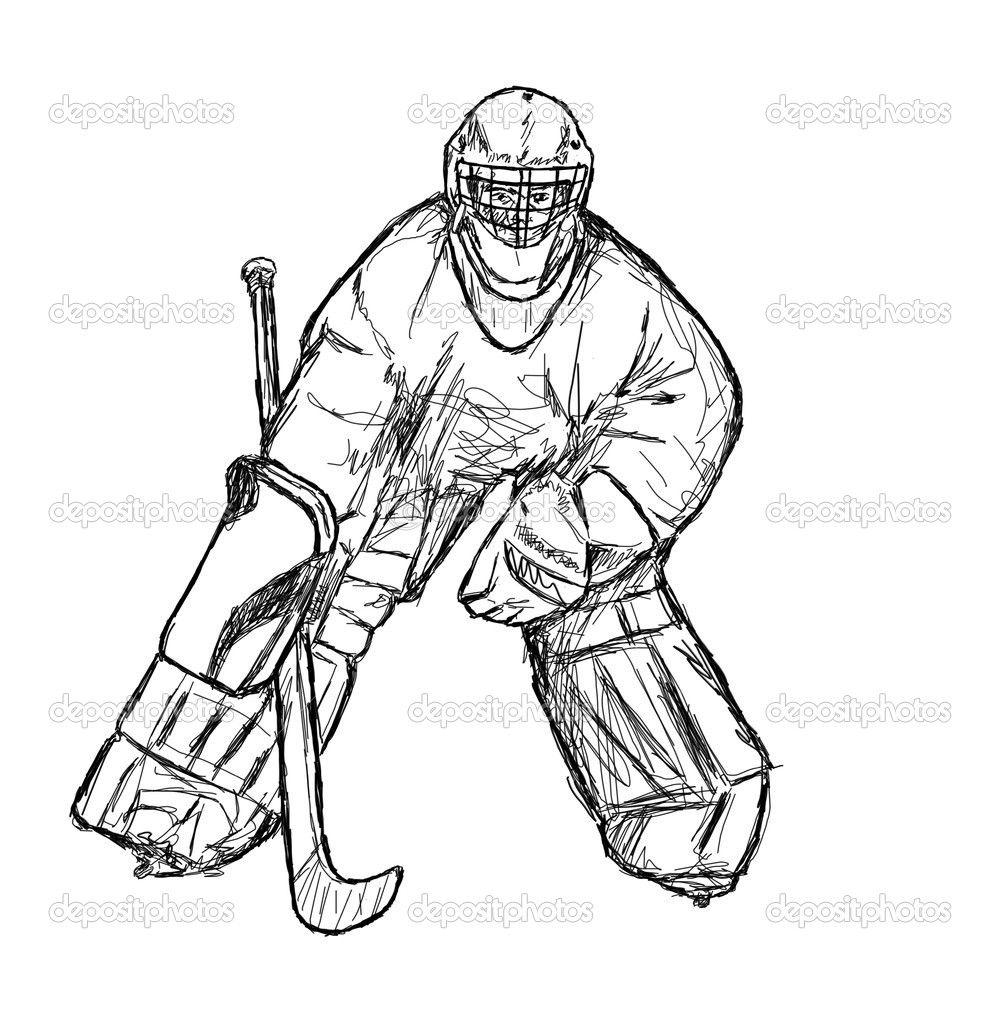 Coloriage Hockey.Coloriage Hockey A Imprimer Quebec Hockey Sketches Hockey Players