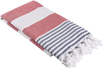 Amazon Com Infusezen Oversized Turkish Towel Soft Terry Cloth