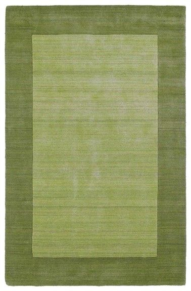 @rosenberryrooms is offering $20 OFF your purchase! Share the news and save!  Solid Border Rug in Celery #rosenberryrooms