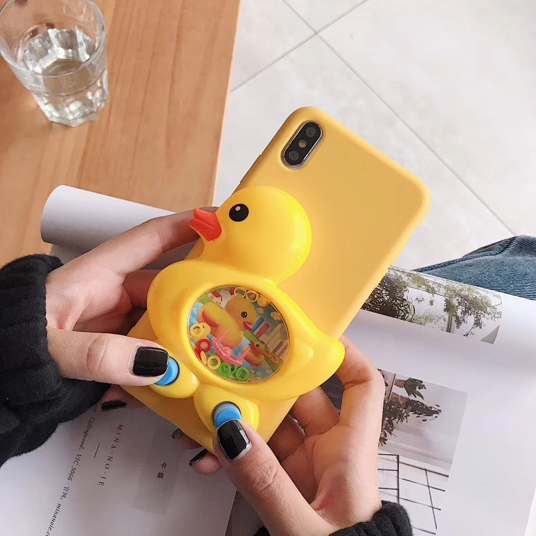 Buy 3D Game Duck Case Liquid Silicone Cover for iPhone at